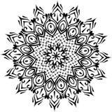 Dessin de mandala rond floral de dentelle Images libres de droits