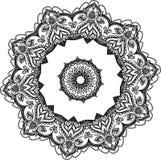 Dessin de mandala rond floral de dentelle Photographie stock