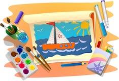 Dessin de mer Image libre de droits