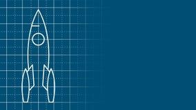 Dessin de modèle du plan de fusée illustration de vecteur
