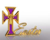 dessin de Pâques de croix du fond 3d illustration libre de droits
