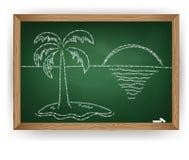 Dessin de palmier Image libre de droits