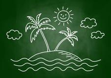 Dessin de palmier Photo libre de droits