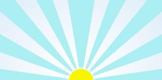 Dessin de Sun de matin pendant le clipart (images graphiques) de lever de soleil Images stock