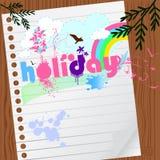 Dessin de vacances avec le papier Image libre de droits