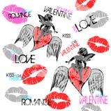 Dessin de Valentine Images stock