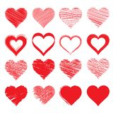 Dessin de vecteur du coeur Un symbole de l'amour illustration stock