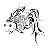 Dessin de vecteur de poisson rouge illustration libre de droits