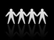 Dessin des gens joints   Image libre de droits