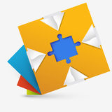 Dessin géométrique abstrait avec un puzzle à l'intérieur Images stock