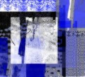 Dessin géométrique bleu abstrait Photos libres de droits