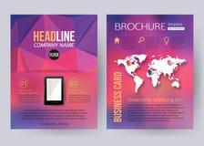 Dessin géométrique d'affaires d'entreprise de brochure Photo stock