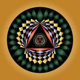 Dessin géométrique de cercle de collecte illustration libre de droits