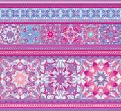 Dessin géométrique de modèle sans couture ethnique riche Style de mandala Fond d'illustraton de vecteur Image libre de droits