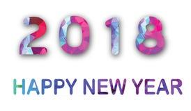 Dessin 2018 géométrique de polygone de bonne année illustration de vecteur