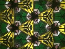Dessin géométrique jaune et vert Photo stock