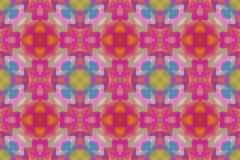 Dessin géométrique, mosaïque d'un kaléidoscope de vecteur illustration stock
