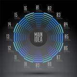 Dessin géométrique numéroté par circulaire, diagramme Photographie stock