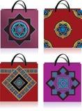 Dessin géométrique, sacs Photos libres de droits