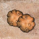 Dessin graphique avec l'image du biscuit, cuisson Concept pour la boulangerie ou le caf?, pour la conception des milieux, annon?a illustration stock