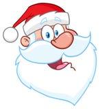 Dessin heureux de main de caractère de Santa Claus Face Classic Cartoon Mascot illustration libre de droits