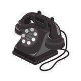 Dessin isométrique de vieux téléphone photo libre de droits