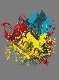 DESSIN-MODÈLE d'impression de T-shirt Photographie stock libre de droits