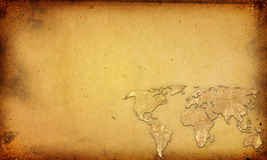 Dessin-modèle de cru de carte du monde Photos stock