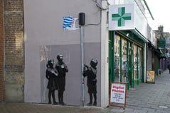 Dessin-modèle neuf de Banksy Photographie stock