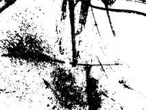 Dessin noir et blanc abstrait simple Dessin expressif Texture monochrome des courses de brosse illustration stock