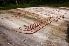 Dessin préhistorique des traîneaux image libre de droits