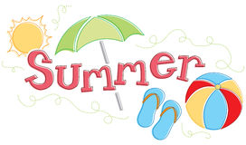 Dessin saisonnier d'été Photos libres de droits