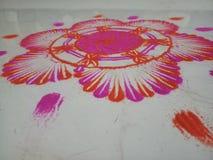 Dessin sec de couleur de plancher photographie stock