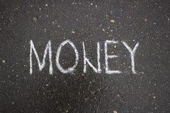 Dessin simple blanc d'affaires sur la craie d'asphalte Photos libres de droits