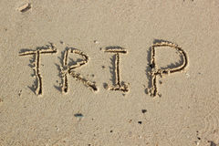 Dessin sur le sable Image stock