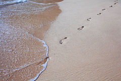 Dessin sur le sable Photos stock
