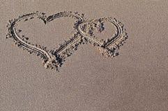 Dessin sur le sable Images stock