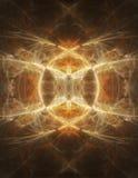 Dessin symétrique abstrait de fumée Photographie stock