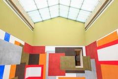 Dessinant pour Free pensant par David Tremlett, une SWA de peinture de mur Images libres de droits