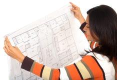 Dessinateur d'intérieurs féminin Image stock