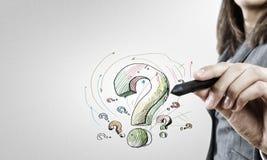 Dessinez votre question image stock