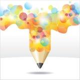 Dessins abstraits de crayon Photos stock