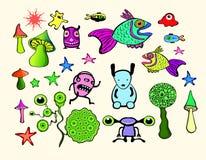 Dessins animés colorés Images libres de droits