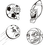 Dessins animés de bille d'Emotiona Images libres de droits