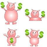 dessins animés de côté porcins illustration stock