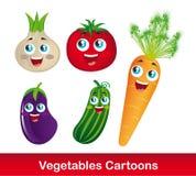 Dessins animés de légumes Photo stock