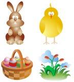 Dessins animés de Pâques Image stock