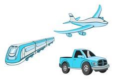 Dessins animés de transport Photographie stock