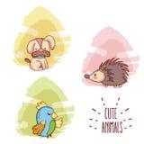 Dessins animés mignons d'animaux Photo stock