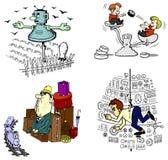Dessins animés de vecteur Image libre de droits